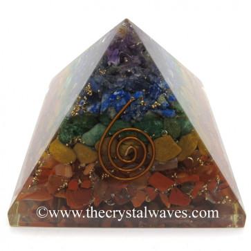 7 Chakra Alligned Orgone Pyramids