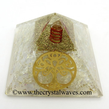 Opalite Chips Orgone Pyramid With New Tree Of Life Symbol