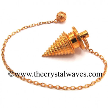 Metal Dowsing Pendulum Copper Style 40