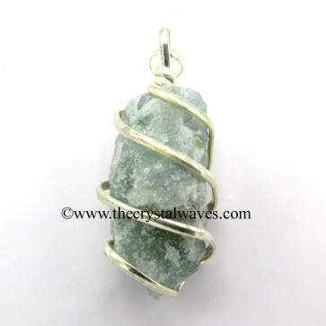 Green Aventurine Hammered Nuggets Cage Wrapped Pendant