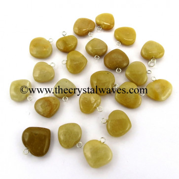 Yellow Aventurine 25 - 35 mm Pub Heart Pendants