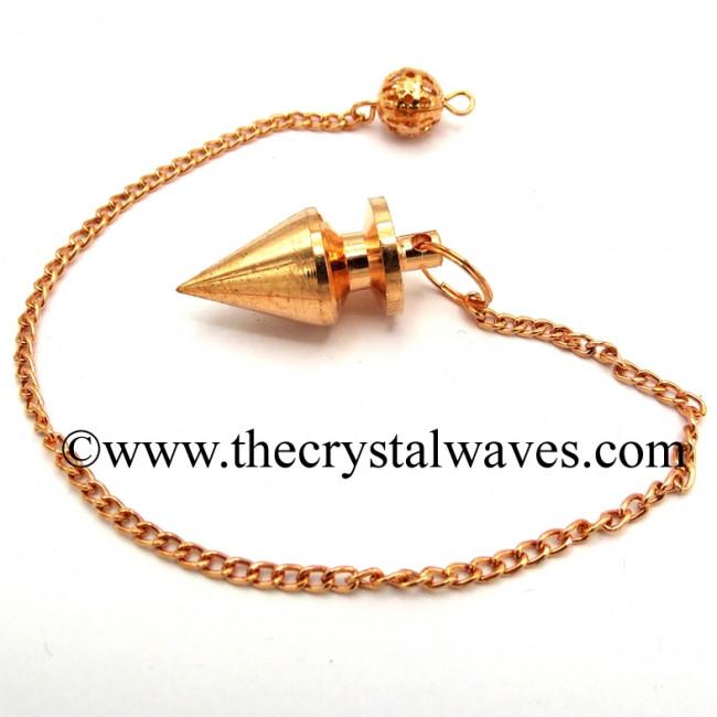 Metal Dowsing Pendulum Copper Style 1