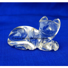 Wholesale Crystal Quartz / Sfatik Hand Carved Cat