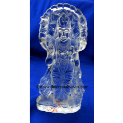 Exclusive Crystal Quartz / Sfatik Hand Carved Goddess Laxmi Ji