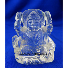 Crystal Quartz Hand Carved Goddess Laxmi Ji Good Quality