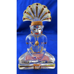 Exclusive Crystal Quartz / Sfatik Hand Carved  Parshvanath Ji