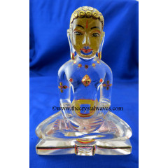 Exclusive Crystal Quartz  / Sfatik Hand Carved  Mahavir Swami Ji