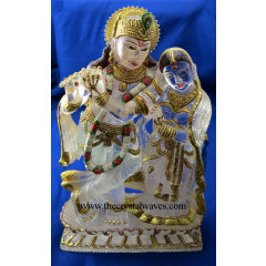 Exclusive Crystal Quartz / Sfatik Hand Carved  Radha Ji & Kishan Ji