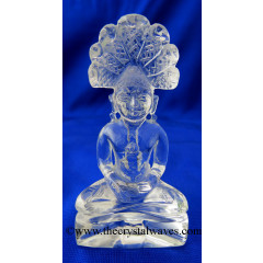 Crystal Quartz 3 Inch Hand Carved  Parshvanath Ji Good Quality