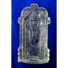 Crystal Quartz Hand Carved  Lord Balaji Good Quality