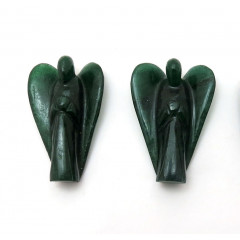 "Green Aventurine (Dark) 2"" Angels"