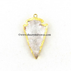 Crystal Quartz Arrowhead Gold Electroplated