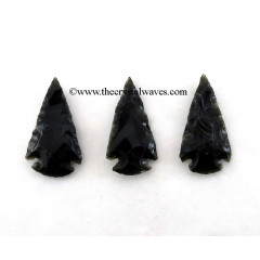 "Black Obsidian  Arrowhead 1"" - 1.50"""