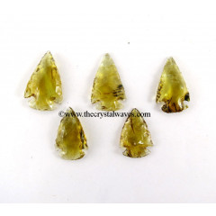 Yellow Shade Glass Arrowhead