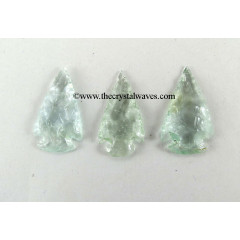Green Amethyst Shade Glass Arrowhead