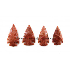 "Red Gold Stone Arrowhead  1"" - 1.50"""
