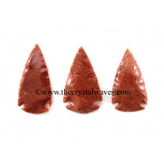 "Red Gold Stone Arrowhead 1.50"" - 2"""