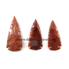 "Red Gold Stone Arrowhead 2.50"" - 3"""