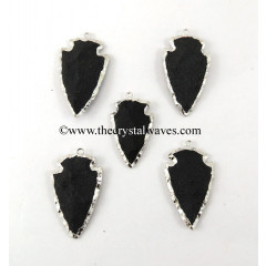 Black Agate Rhodium Electroplated Arrowhead