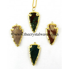 "Fancy Jasper 1 - 1.50"" Electroplated Arrowhead"