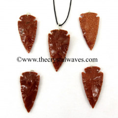 "Red Gold Stone  1.50"" - 2"" Arrowhead Pendants"