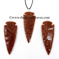 "Red Gold Stone  2.50"" - 3"" Arrowhead Pendants"