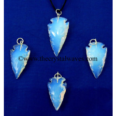 "Opalite  1"" - 1.50"" Arrowhead Pendants"