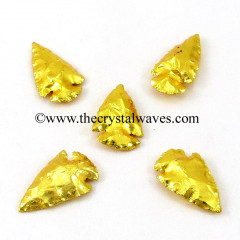 "Gold Plated Arrowhead 1"" - 1.50"""