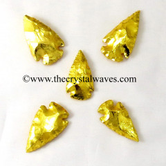 "Gold Plated Arrowhead 1.50"" - 2"""