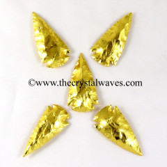 "Gold Plated Arrowhead 2"" - 2.50"""