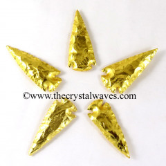 "Gold Plated Arrowhead 2.50"" - 3"""
