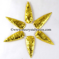 "Gold Plated Arrowhead 3"" - 3.50"""