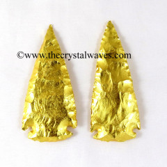 "Gold Plated Arrowhead 3.50"" - 4"""