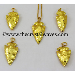 "Gold Plated Arrowhead 1"" - 1.50"" Pendants"