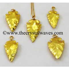 "Gold Plated Arrowhead 1.50"" - 2"" Pendants"