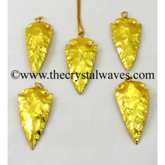 "Gold Plated Arrowhead 2"" - 2.50"" Pendants"