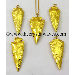 "Gold Plated Arrowhead 2.50"" - 3"" Pendants"