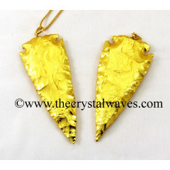 "Gold Plated Arrowhead 4"" - 4.50"" Pendants"