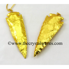 "Gold Plated Arrowhead 4.50"" - 5"" Pendants"
