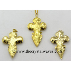 Agate Flower Bottom Shape Full Gold Electroplated Pendants