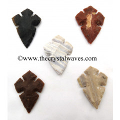 Agate Cross Notched Arrowhead