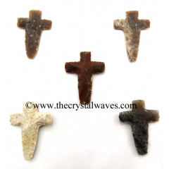 Agate Hand Knapped Cross
