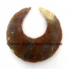 Agate Crecent Moon Arrowhead