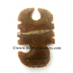 Agate Handknapped Scorpion