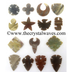 Mix Assorted Shaped Handknapped Arrowheads