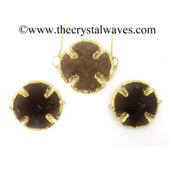Agate Viking's Cross Shape Gold Electroplated Connector/Pendants