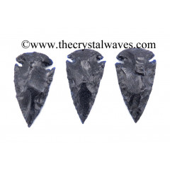 "Blue Gold Stone Arrowhead 2"" - 2.50"""