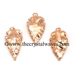 "Copper Plated  Arrowhead 3"" - 3.50"" Pendants"