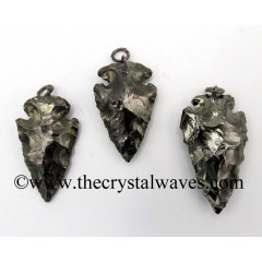 "Black Rhodium Plated  Arrowhead 3.50"" - 4"" Pendants"