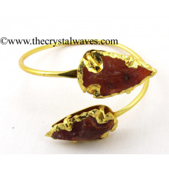 Carnelian Arrowhead Bangle